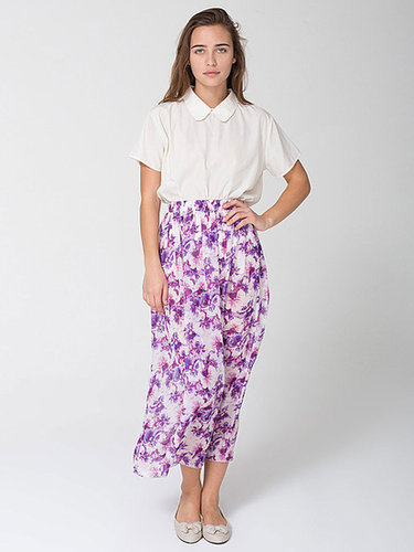 Floral Chiffon Full Length Skirt
