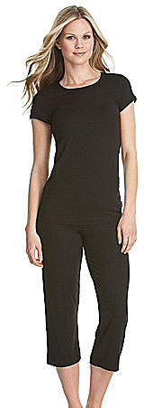 DKNY Seven Easy Pieces Short-Sleeve Black Tee & Capris