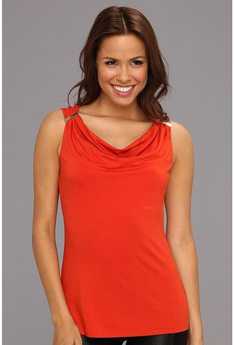 Vince Camuto - Sleeveless Bar Tank Top (Rich Brick) - Apparel