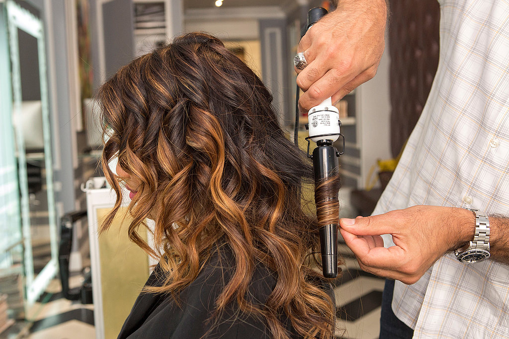 """You can continue to alternate the way your curl each section for the hair on the top of your head, too. """"The key to this look is the imperfection,"""" Pipino explains."""