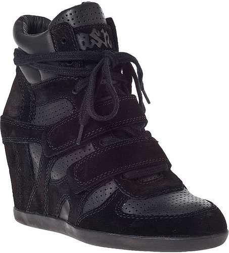ASH Bea Wedge Sneaker Black Suede