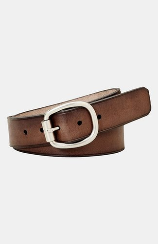 Fossil Leather Belt Brown Medium