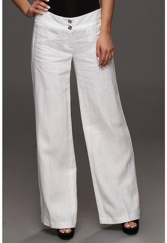 MICHAEL Michael Kors - Washed Linen Wide Leg Pant (White) - Apparel