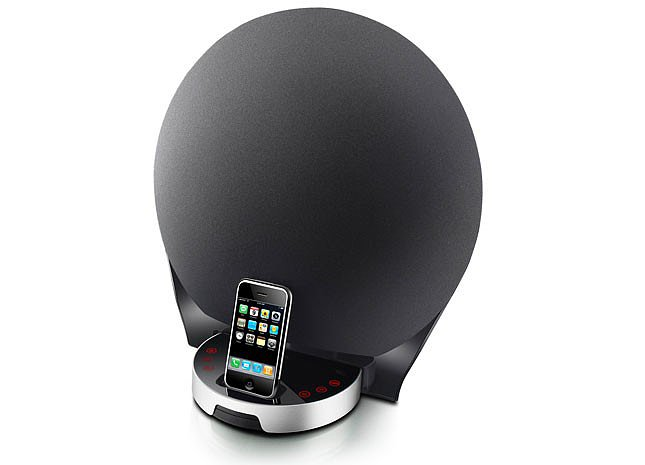 How futuristic-looking is this FM radio dock ($242, originally $300)? Consider it a charger, dock, and stellar speaker system all in one for your iPhone, iPod, or MP3 player.
