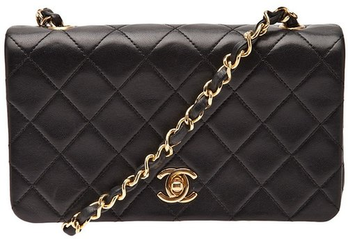 Chanel Vintage quilted full flap bag