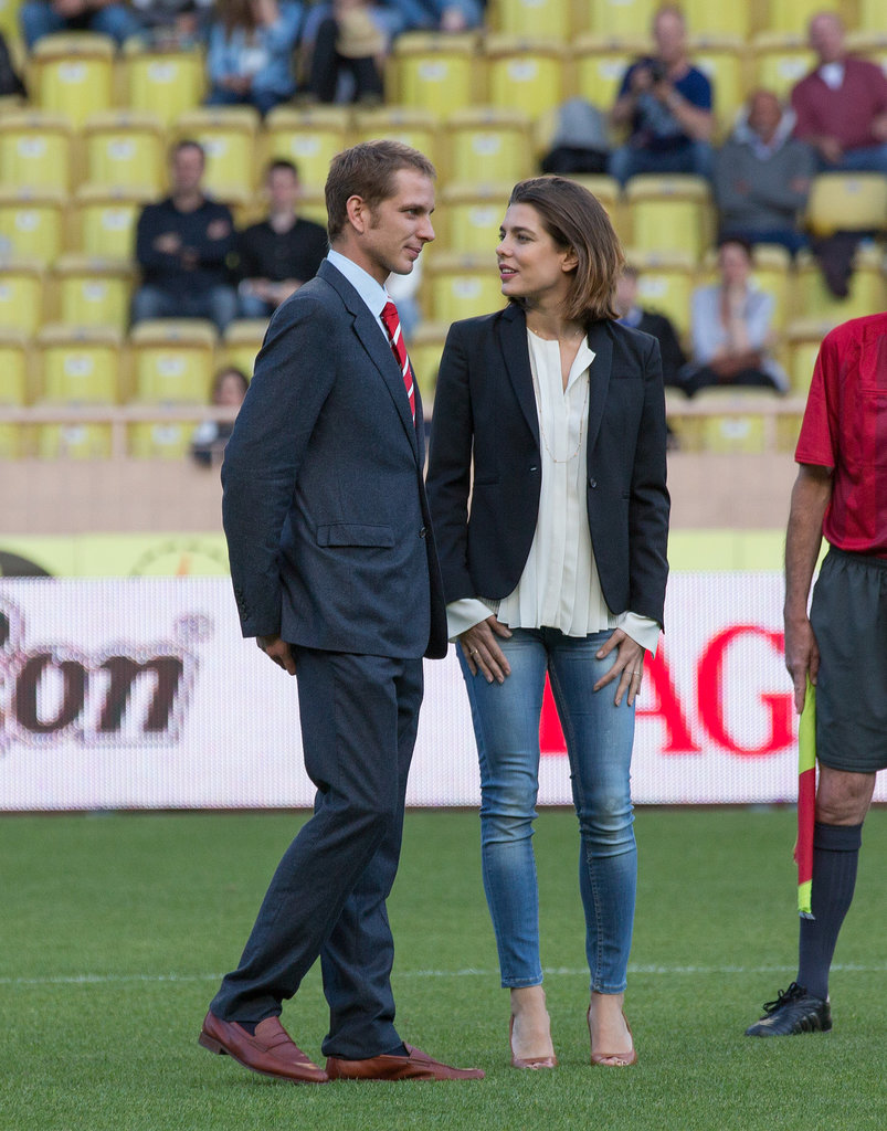 In May, Charlotte and her older brother, Andrea Casiraghi, attended the World Stars Football match in Monaco. Andrea, who is second in line to the throne and could succeed Prince Albert should Albert have no legitimate children, just had a son with heiress wife Tatiana Santo Domingo earlier this year. Their son, Sacha, is third in line to the throne.