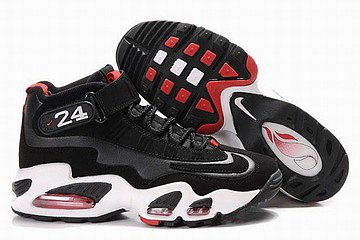air nike griffey max i men shoes black white red