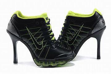 air max 2009 heels black green