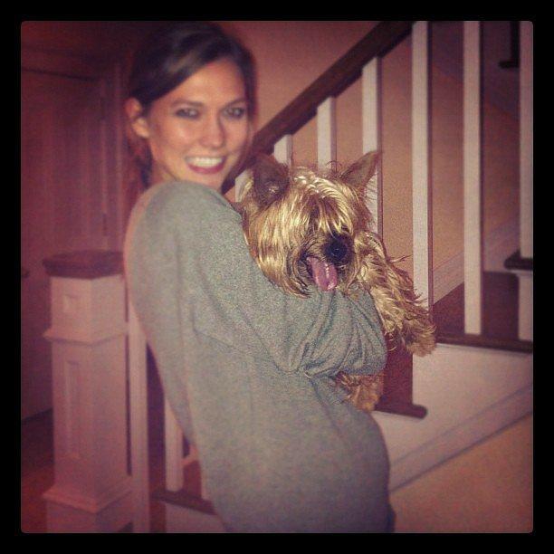 Karlie Kloss and her terrier, Joe, make one adorable pair. Source: Instagram user karliekloss