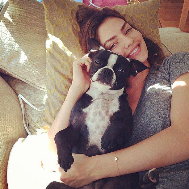 Jake Gyllenhaal's girlfriend, Sports Illustrated model Alyssa Miller, posts lots of adorable photos of her dog Charlie on Instagram. Source: Instagram user luvalyssamiller