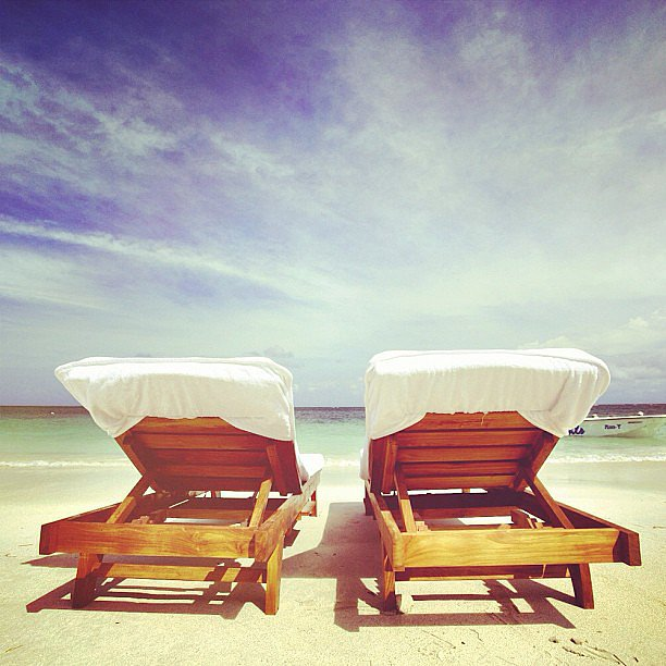 Sunbathe Side by Side at the Beach