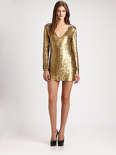 Haute Hippie V-Neck Sequin Dress