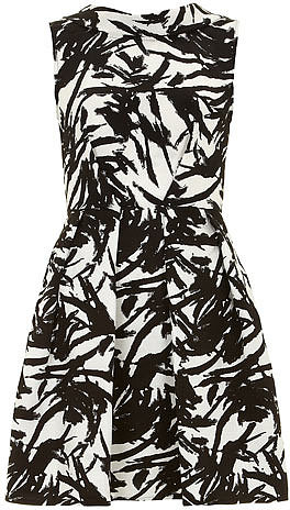 Black/white paint dress