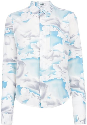 Kenzo painted cloud print blouse