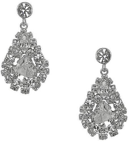 NINA Teardrop Cluster Crystal Drop Earrings