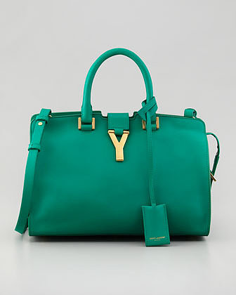 Saint Laurent Y-Ligne Cabas Mini Bag, Green