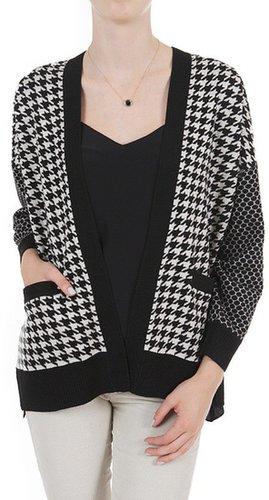 Diane von Furstenberg Checkered Cardigan