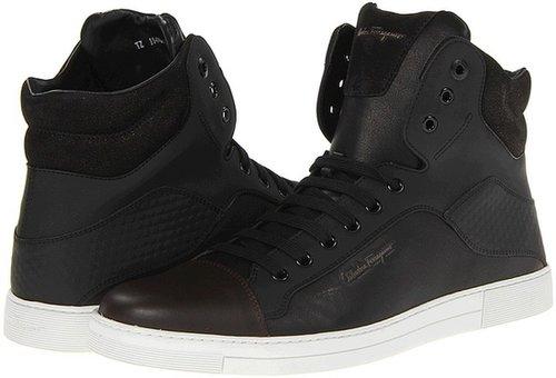 Salvatore Ferragamo - Sisto High Top Trainer (Chocolate/Black) - Footwear
