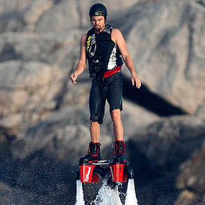 Leonardo DiCaprio Using a Flyboard in Spain   Pictures