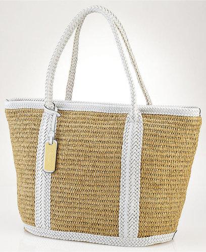Lauren Ralph Lauren Handbag, Turtle Bay Straw Tote