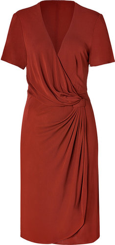 Issa Rust Viscose Jersey Side Drape Dress for STYLEBOP.com