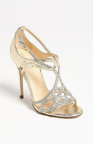 Ivanka Trump 'Herly' Sandal Gold/ Silver 8 M
