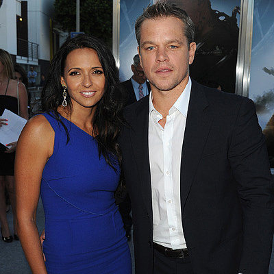 Matt Damon and Luciana Damon at His Elysium Premiere in LA