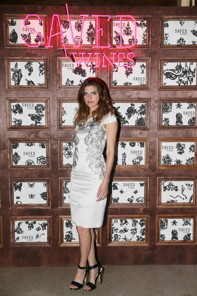 Lake Bell arrived for the Saved Wines launch event at New York's Jane Hotel.