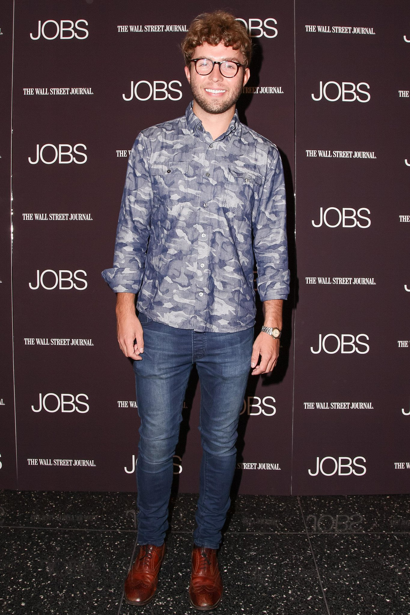 Timo Weiland hit the black carpet for the MoMA Jobs screening in denim.