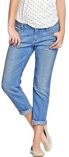 Women's Cropped Skinny Boyfriend Jeans