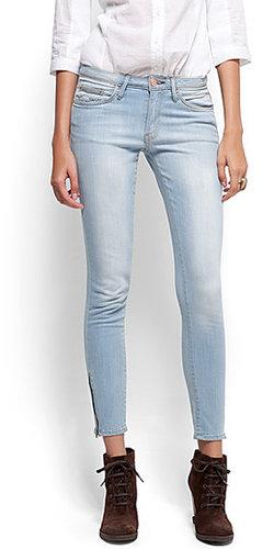 Cropped zipper jeans