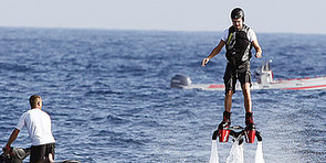 Leonardo DiCaprio Flies Through the Air With the Greatest of Ease