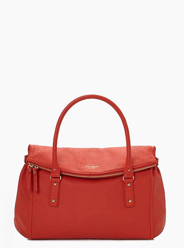 KATE SPADE NEW YORK COBBLE HILL LESLIE TOTE HANDBAG ORANGE