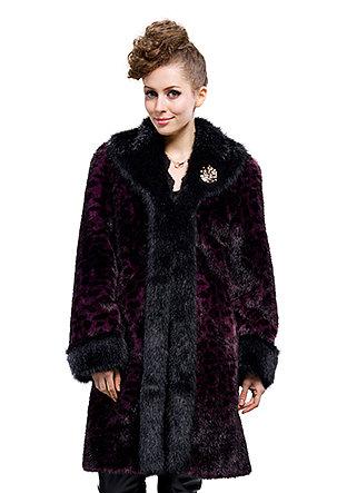 cheap quality fashon black and wine red faux mink fur beaver fur woman long coat