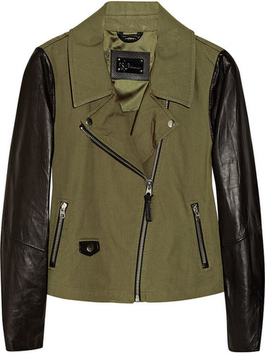 Mackage Debora cotton-canvas and leather biker jacket