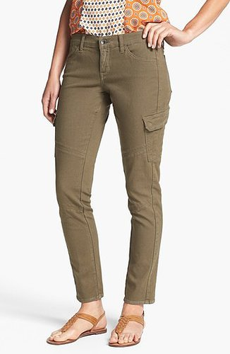 Lucky Brand 'Charlie' Cargo Skinny Pants Womens Army Green Size 29 29