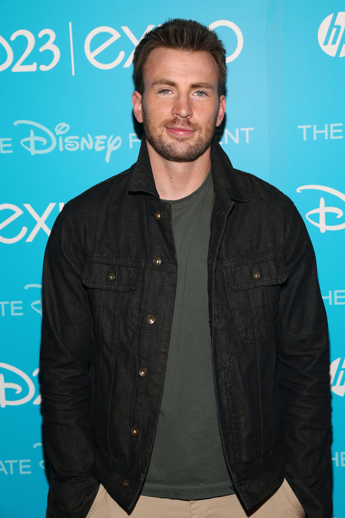 Chris Evans, who stars in Captain America: The Winter Soldier, attended the Disney event.