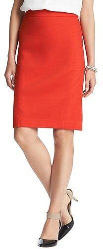 Clean Cotton Blend Pencil Skirt