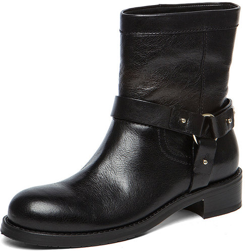 Jimmy Choo Dixie Flat Ankle Boot in Black
