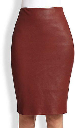 Diane von Furstenberg Marta Leather Skirt