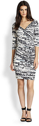 Diane von Furstenberg Bentley Printed Silk Jersey Dress