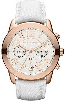 Michael Kors Montre bracelet cuir blanc