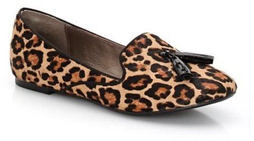 Les tropeziennes Ballerines style slippers, cuir imprimé, Louane