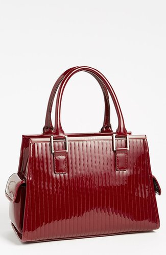 Ted Baker London 'Large' Quilted Tote Oxblood