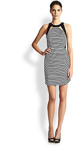 Ali Ro Cutout Striped Dress