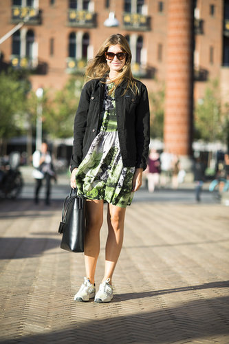 A little how to in wearing dresses and sneakers. Source: Le 21ème | Adam Katz Sinding