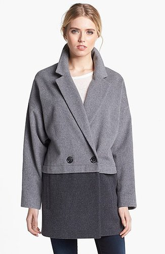 Helene Berman Colorblock Cashmere Blend Coat X-Small