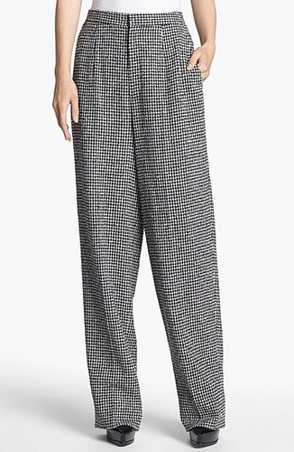 Theyskens' Theory 'Pedry Footh' Slouchy Pants Womens Black/ White Size 2 2