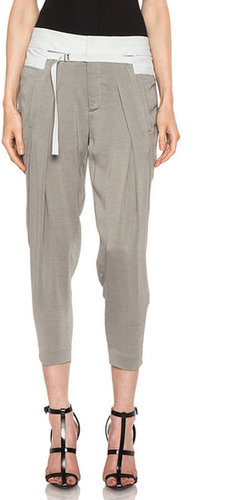 Helmut Lang Triton Trouser in Conch