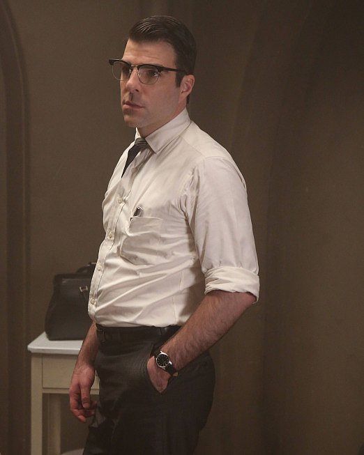 Zachary Quinto Quinto's turn as a murderous doctor on American Horror Story: Asylum got him his first Emmy nomination, in the category for outstanding supporting actor in a miniseries.